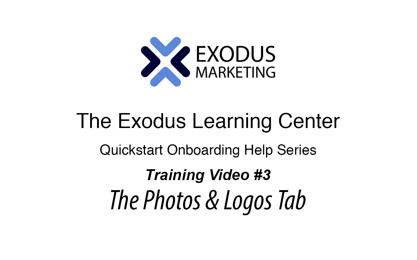#3 UnderstandingThe Photos & Logos Tab