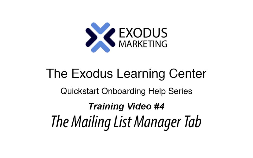 #4 UnderstandingThe Mailing List Tab