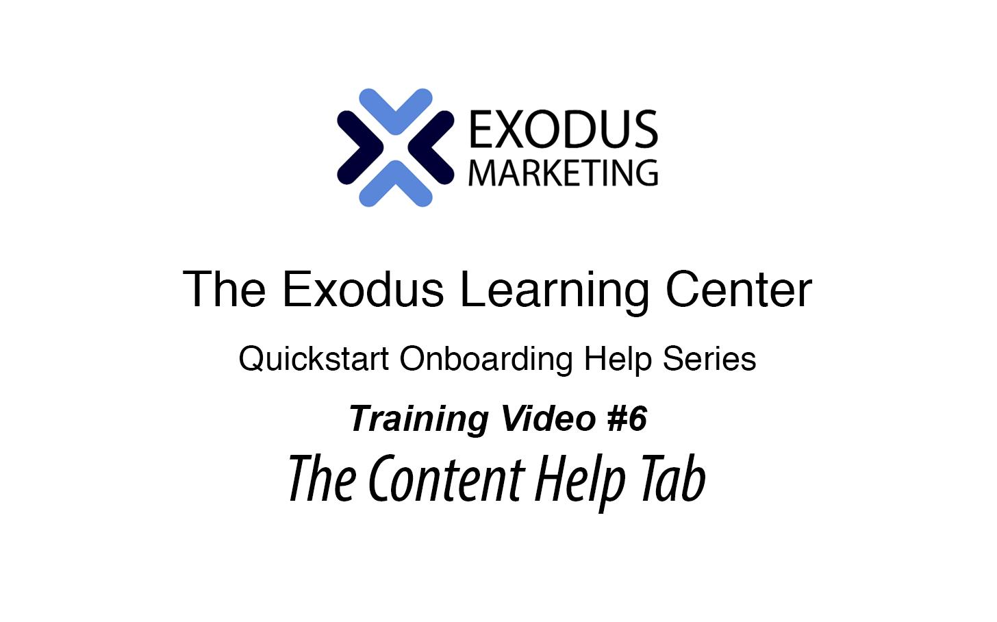 #6 UnderstandingThe Content Help Tab